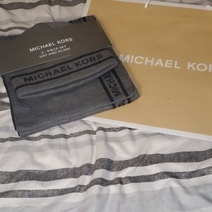 NWT Michael Kors hat and scarf set